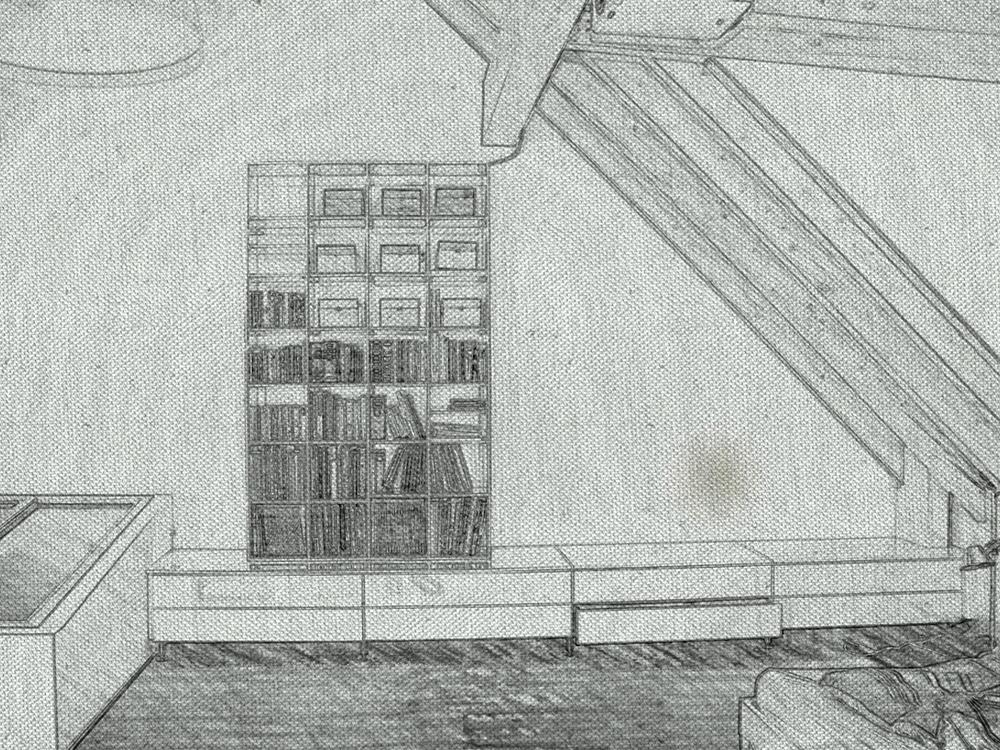 Dachausbau Skizze
